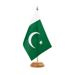 Pakistan Drapeau de table 15 x 22 cm, bois