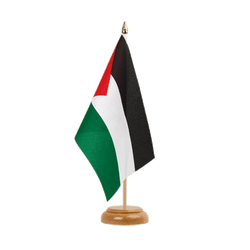 "Palestine Table Flag 6x9"", wooden"