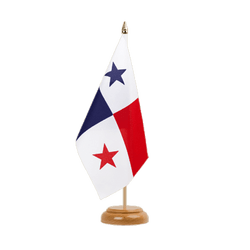 "Panama Table Flag 6x9"", wooden"