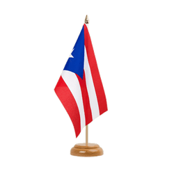 "Puerto Rico Table Flag 6x9"", wooden"