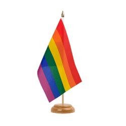 "Rainbow Table Flag 6x9"", wooden"