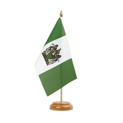 "Rhodesia - Table Flag 6x9"", wooden"