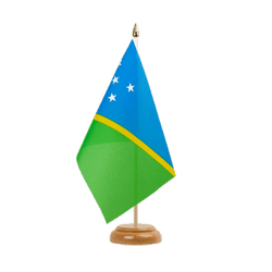 "Solomon Islands Table Flag 6x9"", wooden"