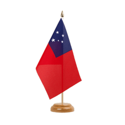 "Samoa Table Flag 6x9"", wooden"