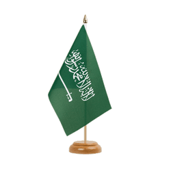 "Saudi Arabia Table Flag 6x9"", wooden"