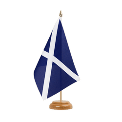 "Scotland navy Table Flag 6x9"", wooden"