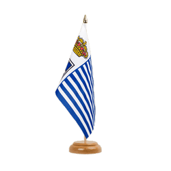 "Seborga Table Flag 6x9"", wooden"