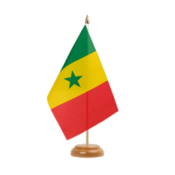 "Senegal Table Flag 6x9"", wooden"
