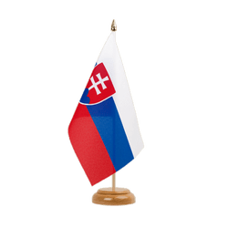 "Slovakia Table Flag 6x9"", wooden"