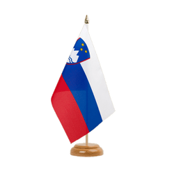 "Slovenia Table Flag 6x9"", wooden"