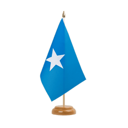 "Somalia Table Flag 6x9"", wooden"