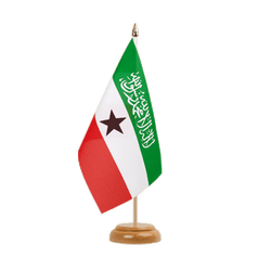 "Somaliland Table Flag 6x9"", wooden"