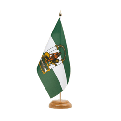 "Andalusia Table Flag 6x9"", wooden"