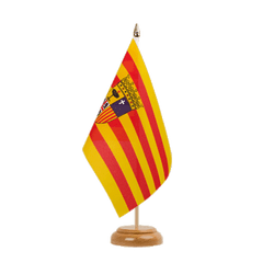 "Aragon Table Flag 6x9"", wooden"