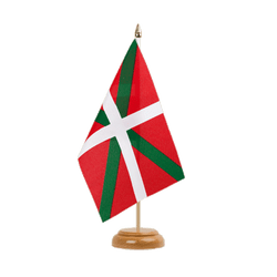 "Basque country Table Flag 6x9"", wooden"