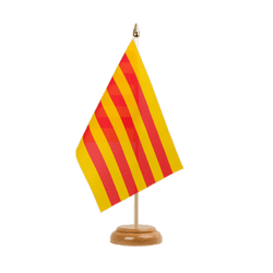 "Catalonia Table Flag 6x9"", wooden"