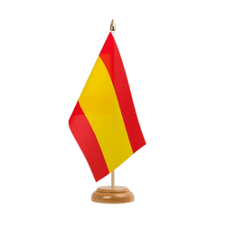 "Spain without crest Table Flag 6x9"", wooden"