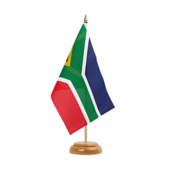 "South Africa Table Flag 6x9"", wooden"