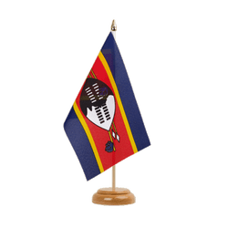 "Swaziland Table Flag 6x9"", wooden"