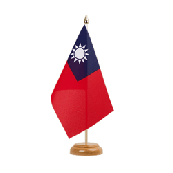 "Taiwan Table Flag 6x9"", wooden"