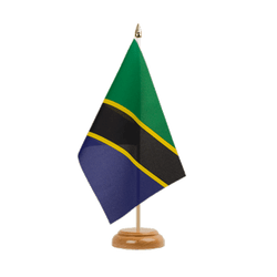 "Tanzania  Table Flag 6x9"", wooden"