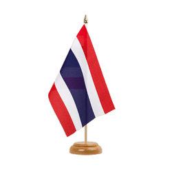 "Thailand  Table Flag 6x9"", wooden"