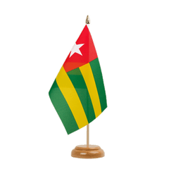 "Togo Table Flag 6x9"", wooden"