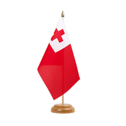 "Tonga Table Flag 6x9"", wooden"