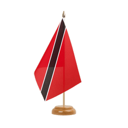 "Trinidad and Tobago Table Flag 6x9"", wooden"