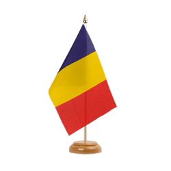 "Chad Table Flag 6x9"", wooden"