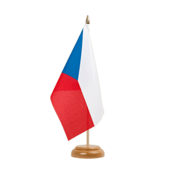 "Czech Republic Table Flag 6x9"", wooden"