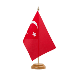 "Turkey Table Flag 6x9"", wooden"