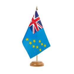 "Tuvalu Table Flag 6x9"", wooden"
