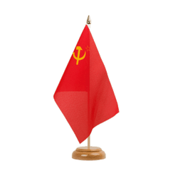 "USSR Soviet Union Table Flag 6x9"", wooden"