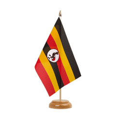 "Uganda Table Flag 6x9"", wooden"
