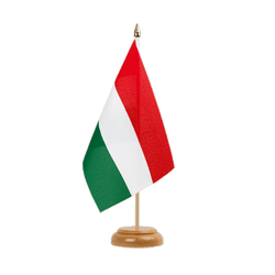 "Hungary Table Flag 6x9"", wooden"