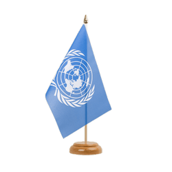 "UNO Table Flag 6x9"", wooden"