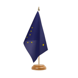 "Alaska - Table Flag 6x9"", wooden"