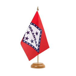 "Arkansas Table Flag 6x9"", wooden"