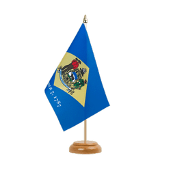 "Delaware - Table Flag 6x9"", wooden"