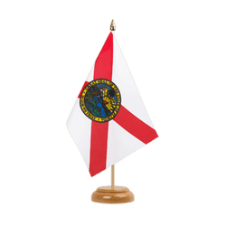 "Florida - Table Flag 6x9"", wooden"