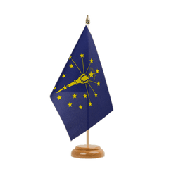 Drapeau de table Indiana - 15 x 22 cm, bois
