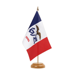 "Iowa Table Flag 6x9"", wooden"