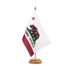 "California  Table Flag 6x9"", wooden"