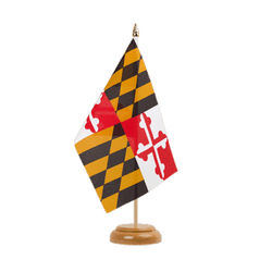 "Maryland  Table Flag 6x9"", wooden"