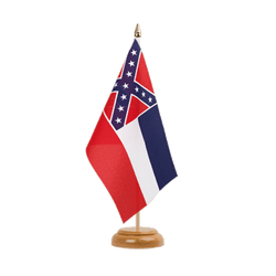 Drapeau de table Mississippi 15 x 22 cm, bois