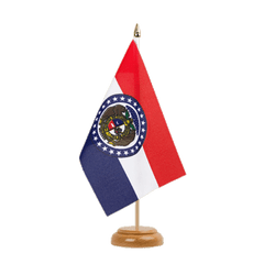 "Missouri Table Flag 6x9"", wooden"