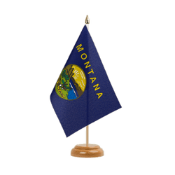 "Montana Table Flag 6x9"", wooden"