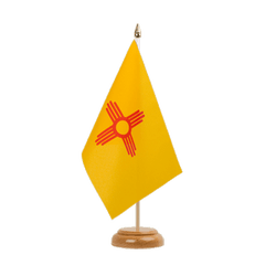 "New Mexiko Table Flag 6x9"", wooden"