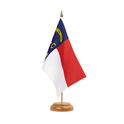 Drapeau de table North Carolina - 15 x 22 cm, bois